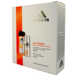Набор для мужчин Adidas Adipower Set (sh/gel/250ml + deo/spray/150ml) фото