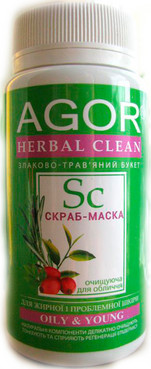 Фото Скраб-маска для жирной кожи Agor Herbal Clean