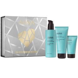Набор - Поцелуй моря Ahava Sea Kissed Mineral Delights Set (lotion/250ml + h/cr/100ml + gel/40ml + bag) фото