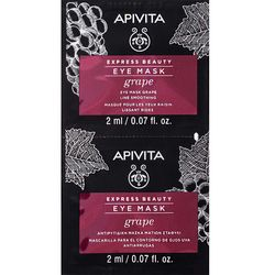 Фото Маска против морщин для кожи вокруг глаз с виноградом Apivita Express Beauty Anti-Wrinkle Eye Mask