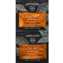 Маска для лица СИЯНИЕ И ОЗДОРОВЛЕНИЕс апельсином Apivita Express Beauty Revitalizing Face Mask With Orange фото