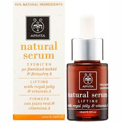Фото Натуральная сыворотка для лица Apivita Natural Serum Lifting With Royal Jelly And Vitamin A
