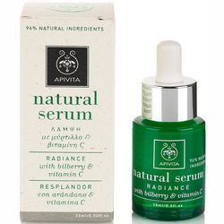 Фото Натуральная сыворотка для лица Apivita Natural Serum Radiance With Bilberry And Vitamin C