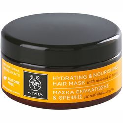 Фото Маска для сухих волос с миндалем и медом Apivita Propoline Hydrating and Nourishing Hair Mask With Almond And Honey