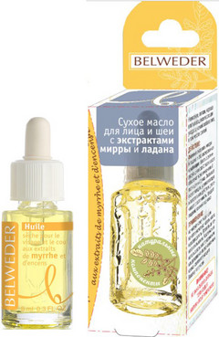 Фото Сухое масло для лица и шеи с экстрактами мирры и ладана Belweder Dry Oil With Myrrh And Frankincense Extracts