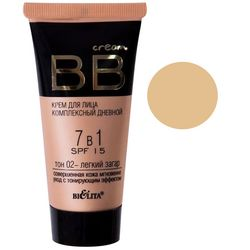 Комплексный BB крем для лица 7в1 Bielita BB Cream SPF 15 фото