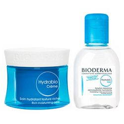 Набор ГИДРАБИО для сухой кожи Bioderma Hydrabio Set (cr/50ml + lotion/100ml) фото