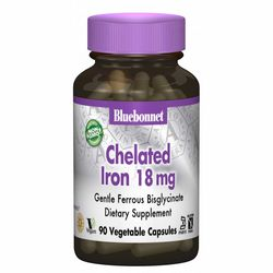 Фото Хелатное железо 18 мг Bluebonnet Nutrition Albion Chelated Iron 18 mg