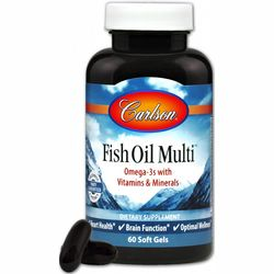 Фото Мультивтамины и минералы с Омега-3 Carlson Labs Fish Oil Multi