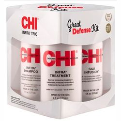 Набор &bq;Мощная защита&bq; CHI Infra Great Defense Kit (shmp/177ml + cond/177ml + silk/177ml) фото