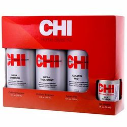 Фото Набор для стилиста CHI Infra Home Stylist Kit (sh/355ml + mask/355ml + cond/355ml + compl/59ml)