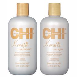 Фото Набор &bq;Золотой уход с кератином&bq; CHI Keratin The Gold Treatment (shmp/355ml + cond/355ml)
