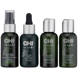 Дорожный набор - Чайное дерево CHI Tea Tree Nurture & Shield Travel Kit (cond/59ml + shmp/59ml + spray/59ml + serum/59ml) фото