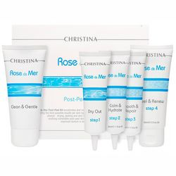 Фото Набор для постпилингового ухода Christina Rose De Mer Post Peeling Kit (f/wash/60ml + ser/30ml + ser/30ml + ser/30ml + cr/mask/60ml)