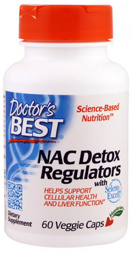 Фото Антиоксидант Doctor's Best NAC Detox Regulators with Seleno Excell