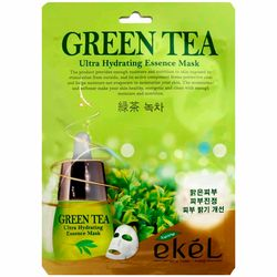 Тканевая маска с экстрактом зеленого чая Ekel Green Tea Ultra Hydrating Essence Mask фото