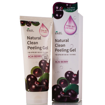 Фото Пилинг-скатка натуральная  с экстрактом ягод асаи Ekel Natural Clean Peeling Gel Acai Berry