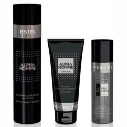 Фото Комплекс по уходу &bq;SEBO-контроль&bq; Estel Professional Alpha Homme (shamp/250ml + gel/100ml + lotion/100ml)