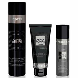 Фото Комплекс по уходу &bq;Carbon&bq; Estel Professional Alpha Homme (shamp/250ml + gel/100ml + lotion/100ml)
