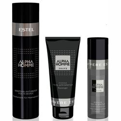 Фото Комплекс по уходу &bq;Энегетический&bq; Estel Professional Alpha Homme (shamp/250ml + gel/100ml + lotion/100ml)