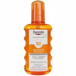 Солнцезащитный спрей для тела Eucerin Sun Spray Transparent SPF 50 фото
