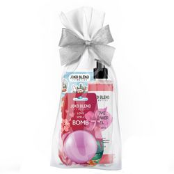 Фото Подарочный набор Joko Blend Warm Love Set (gel/260ml + bath/bomb/200g + sticker)