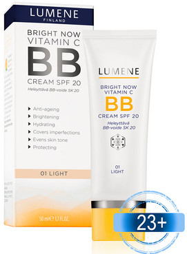 Тонирующая ВВ основа для лица Lumene Bright Now Vitamin C BB Cream SPF 20 фото