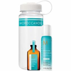 Фото Набор &bq;Фитнес&bq; для светлых волос Moroccanoil Fitness (oii liht 25 ml, dry sham. 65 ml + sport bottle with a white lid as a gift)