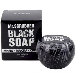 Фото Мыло-маска-скраб с кокосовым углем Mr.Scrubber Black Soap