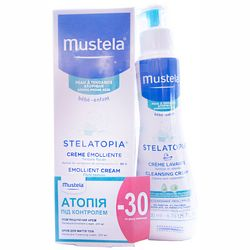 Фото Набор &bq;Атопия под контролем&bq; Mustela (cream emollient 200 ml + cleansing cream lavante 40 ml)