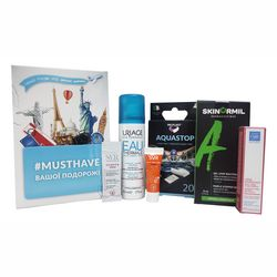 Набор для путешествий №2 Musthave (cream/5ml + gel/8ml + water/50 ml + cream/2ml + cream/3ml + plaster/20pc) фото