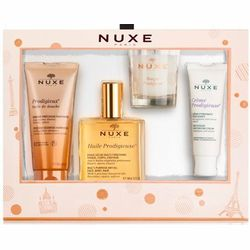 Набор Чудесные моменты NUXE (oil/100ml + oil/100ml + cr/40ml + candle/70g) фото