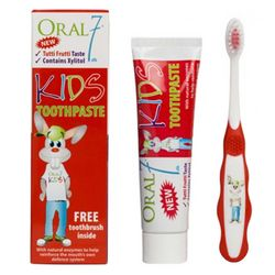 Детский набор Oral7 Kids Toothpaste (toothpaste/50ml + toothbrush/1pcs) фото