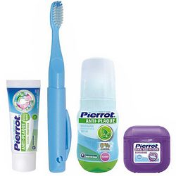 Набор для путешествий Pierrot Orthodontic Dental Kit Complete (tpst/30ml + tbrsh/1шт + m/wash/100ml + floss/30m) фото