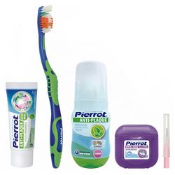 Набор для путешествий Pierrot Orthodontic Dental Kit Complete (tpst/75ml + tbrsh/1шт + m/wash/100ml + floss/30m + brsh/1шт) фото
