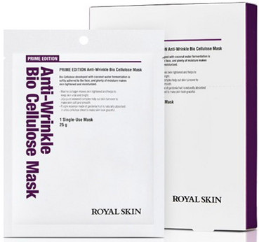 Био-целлюлозная омолаживающая маска для лица Royal Skin Prime Edition Anti-Wrinkle Bio Cellulose Mask фото