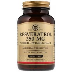 Ресвератрол с экстрактом красного вина 250 мг Solgar Resveratrol With Red Wine Extract фото