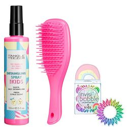 Детский подарочный набор Tangle Teezer Kids Mood Kit (hair/comb/1pc + spr/150ml + scrunchy/1pack) фото