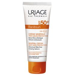 Крем БАРЬЕСАН SPF50+ минеральный солнцезащитный Uriage Bariesun Mineral Cream Very High Protection SPF 50+ фото