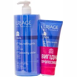 Фото Набор &bq;Нежное очищение&bq; Uriage Bebe (cl water/1000 ml + cr lavante/200 ml)