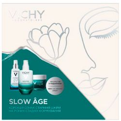 Фото Набор к 8 марта Vichy Slow Age Kit (fluid/50ml + night/cream/50ml + booster/4ml)
