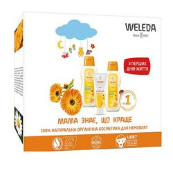 Набор &bq;Мама знает, что лучше&bq; Weleda Calendula Series (shm/200ml + cr/75ml + oil/200ml) фото
